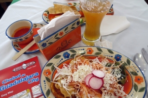 Sopes y michelada