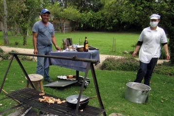 Cooking at the Asado