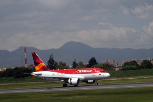flying into Bogotá
