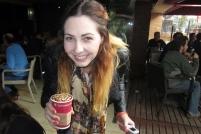 Britney's beautiful coffee at Juan Valdez