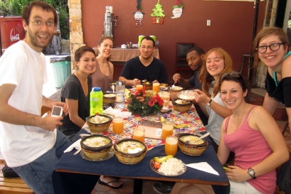 Group meal, Sancocho!