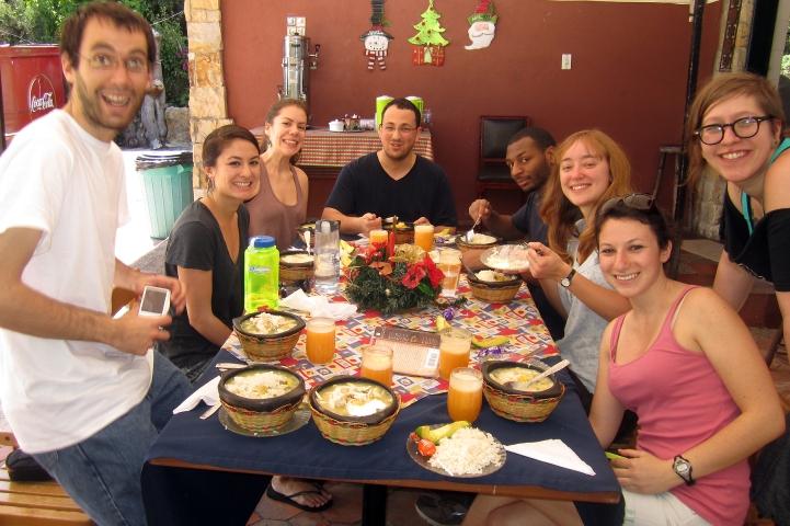 Group meal, Sancocho!
